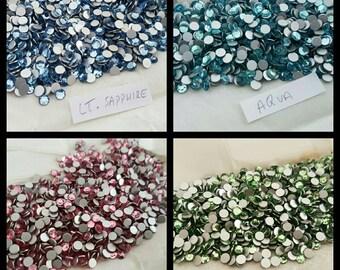 Swarovski Crystal Round Rhinestone Flat Back Crystals (x72pcs)