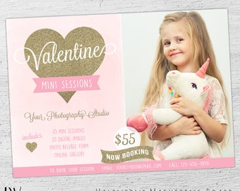 Valentine Mini Template, Valentine Mini Session Template, Mini Session Template, Valentine's Day, Marketing Photography, 05-001