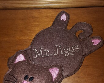 Kitty Cat Coaster Mug Rug, Snack mat