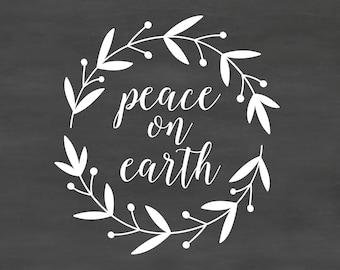 Christmas saying peace on earth DB416