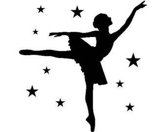 ARTEMIO Kit tampon clear acrylic block - ballerina dancer 4.5 x 4.5 cm