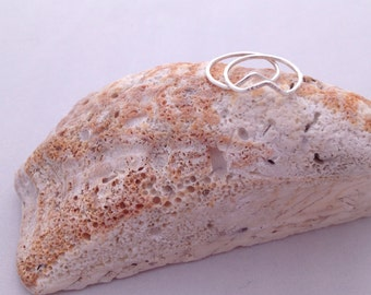 silver peak midi ring