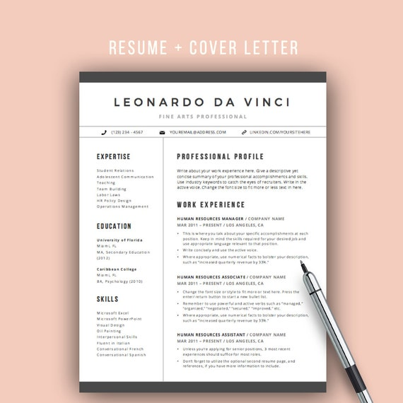 teacher resume template word 4 pages resume icons cv template cover letter for word elementary teacher resume mac and pc - Pages Resume Templates