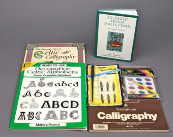 Vintage and Newer Celtic Calligraphy Collection Just needs Ink and Your Hand