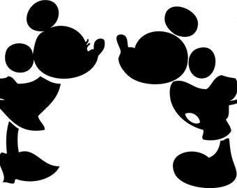 Kissing Mickey and Minnie SVG, mickey svg, minnie svg, disney svg, mickey and minnie