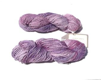 Araucania Nature Cotton Yarn, Purple Yarn, Yarn Destash