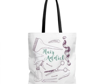 Hair Addict Tote Bag