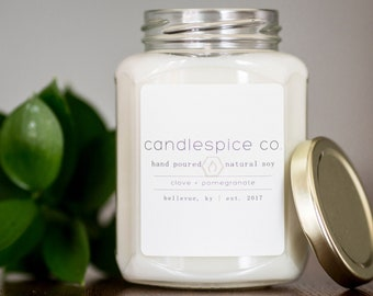 12 oz all natural soy candle
