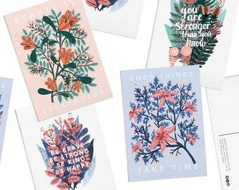 Pack of 8 Papio Press Motivational Postcards