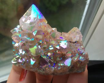 Angel Aura Spirit Quartz Crystal Cluster