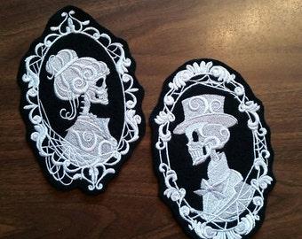 Skeleton Cameo patch,