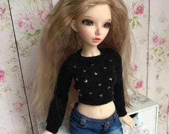 BJD clothes sweater  with butterflies slim MSD Minifee, HeeAh