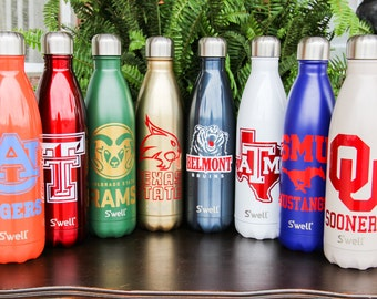 Double Sided Custom S'well Bottles Part 2 - College, Sports, Sorority, Bridesmaid, Birthday, Christmas, Workout Swell Bottle