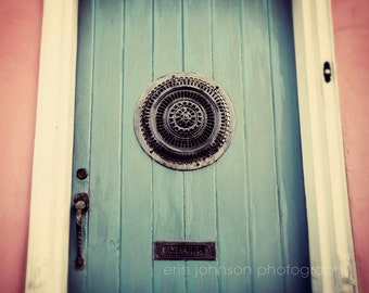 new orleans door photography,  blue decor,  pink decor,  architecture art,  french quarter art,  home decor