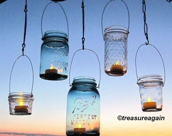 Hanging Lanterns 20 DIY Mason Jar Hangers Outdoor Wedding Mason Jar Candle Holders DIY , No Jars