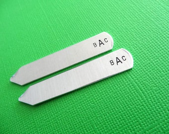 Personalized Collar Stays - Initials, Monogram - Custom Collar Stays - Gift for Him, Men, Groom, Groomsmen, Dad