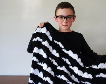 "DIY Knitting PATTERN - Cloudy Baby Blanket - 33"" x 35"" (2016015)"