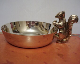 Viner's Silver-Plated Squirrel Dish Trinket Ring Bon-bon Viners Sheffield Alpha Plate Ideal Gift Birthday Valentine Mothers Day Fathers Day
