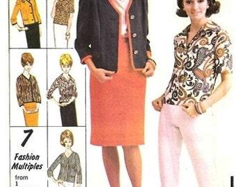 Advance 3179 Boxy Bebop Jacket, Blouse, Skirt & Pants 1960's / SZ11 UNCUT
