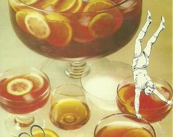 Punch Party : A6 postcard from an original analog collage