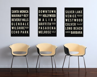 California Poster Print - Los Angeles Wall Decor - Los Angeles Poster - LA Wall Art - LA Poster - Subway Sign - Poster Print - Gift for Son