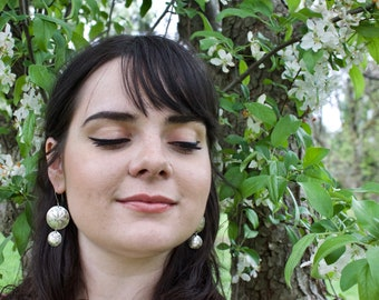 Sterling Silver Ocean Earrings