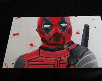 Dessin au crayon de couleur de Deadpool