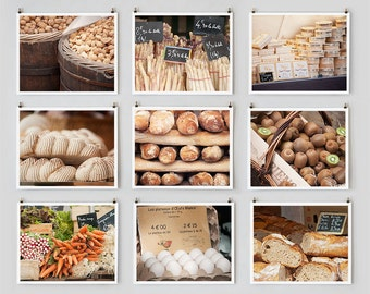 Fine Art Photography, Paris Gallery Wall Art, Paris Market Photography Collection, Kitchen Art Food Prints, French Country Decor
