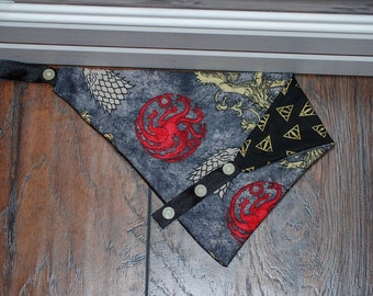 GoT/Deathly Hallows double sided cotton bandana