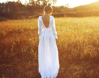 White dress wedding