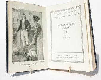 Mansfield Park Jane Austen Vintage antique book 1910s Fiction UK Classic English literature.