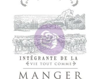 """Boire Du Vin Decor Transfer from Prima Marketing . French Inspired vinyard design. 37.5"""" x 33.5"""""""