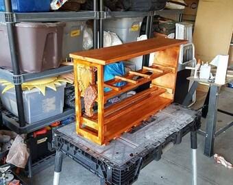 Wine rack custom carved
