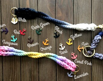 Leather Anchor Charm for Collar or Leash- MINI/SMALL