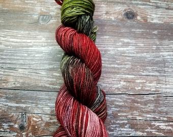 Hand dyed merino worsted weight tonal yarn 100g 218 yards indie dyed merino