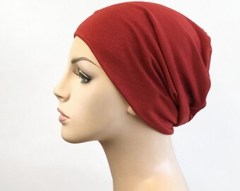 Brick Turban Head Band, Yoga headband, Wide Headband, Pretied Turban, Chemo Hat 299-33a