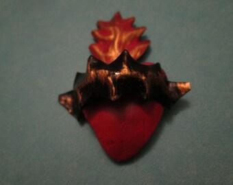 Tiny tin  Sacred heart of Jesus