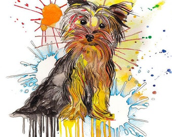 YORKIE Yorkshire Terrier Art print - Home Decor - Fine Art Print - Dog Print - Dog Art Print - Modern Art print