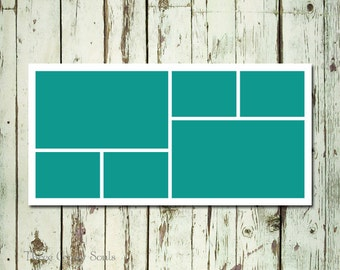 10x20 Storyboard Template Photo CollageTemplate Layered PSD Photographer Template