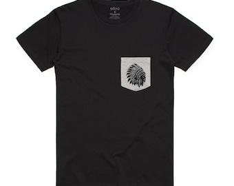 Chief Skull Men's Pocket T-Shirt