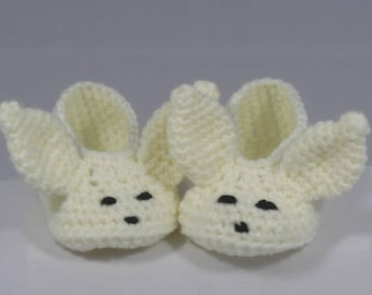 fennec booties size 0-3 months hand made wool