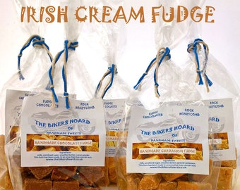 Irish Cream Fudge - Handmade Fudge - Handmade Confectionery, Fudge, Baileys, Made in Devon, Edible Gifts, Sweet Treats, Food Gifts, Sweets
