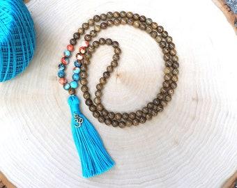 108 Mala Bead Bohemian Tassel Necklace