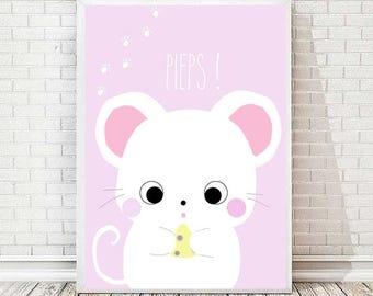 Mouse Moony print