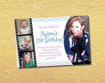 Personalised 18th 21st 30th 40th 50th 60th Birthday Invitations Party Invites