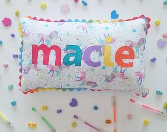 Personalised Name Cushion. custom name pillow. nursery pillow. baby girl gift. keepsake. nursery decor. 1st birthday. Tummy time. present