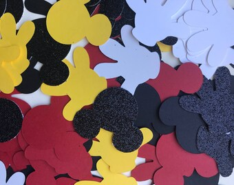 Mickey Mouse Confetti - Mickey Birthday Party Table Scatter - Mickey Cake Smash Confetti - Photo Shoot Prop - Baby Shower Decor Confetti