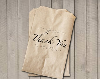 THANK YOU Wedding Favor Bags, Thank You Favor Bags, Classic Wedding Candy Bags, Wedding Candy Buffet Bags, Engagement Party, Bridal Shower