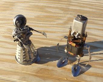 junk art / found object robots