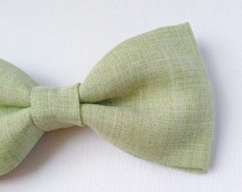 Sage green bow tie, self tying, clip, pretied // All sizes available, men's/teen, boys // Wedding, groomsmen accessories